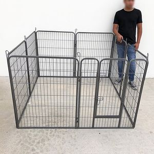 """$110 (new in box) 8-panel dog playpen, each panel 40"""" tall x 32"""" wide heavy duty pet exercise fence crate kennel gate for Sale in Whittier, CA"""