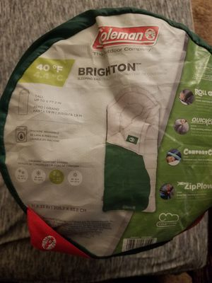 Coleman brighton 40 degree sleeping bag for Sale in Tampa, FL