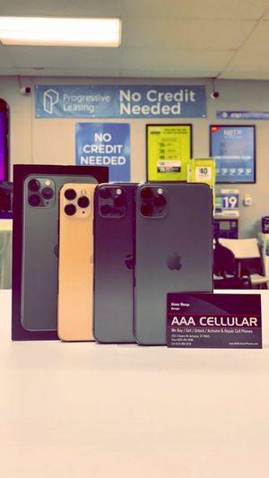 iPhone 11 Pro - 256GB / 64GB - Factory Unlocked / ATT T-Mobile Verizon Sprint Starting @ for Sale in Arlington, TX