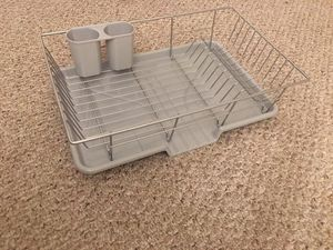 Steel dish drying rack with tray (new) for Sale in Aliso Viejo, CA