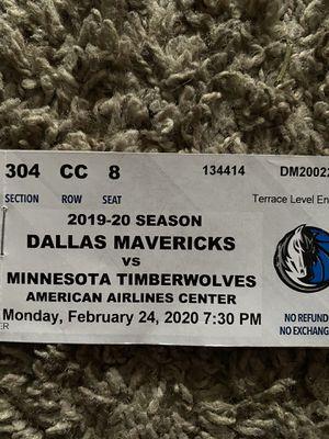 Dallas Mavericks vs Minnesota Timberwolves for Sale in Dallas, TX
