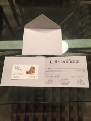 Gift Certificate from Work Duds for Sale in Richmond, VA