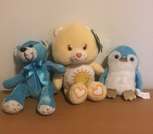 Teddy Bear, Care Bears, and Penguin Plushies for Sale in Chula Vista, CA