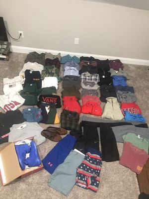 Clark · LOT of (55x Pieces) Men's clothing + 2 pairs of shoes. Name brands - Patagonia, Nike, Vintage etc for Sale in Columbus, OH