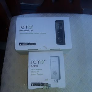 Remo Chime WiFi Video Doorbell +Remo Chime for wireless device. for Sale in Virginia Beach, VA