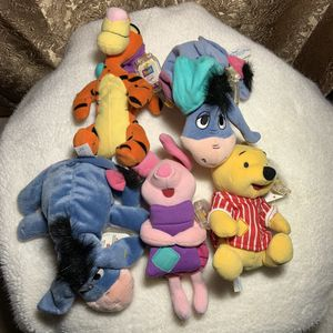 Lot of 5 Pooh Series 1999 Plushes for Sale in San Marcos, CA