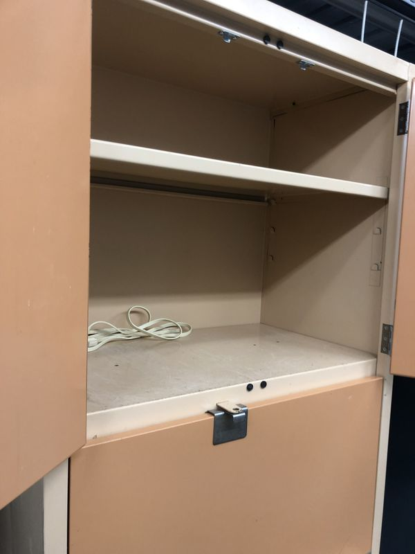 Heavy duty metal cabinets for your chemicals or your tools in excellent condition