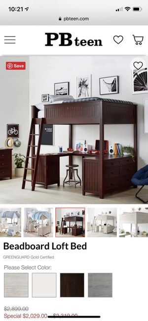 Full size pottery barn loft bed for Sale in Chico, CA