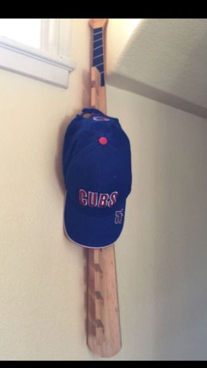 Baseball Bat Hat Hanger With 2 Shelves for Sale in Fresno, CA