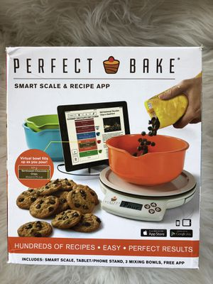 Perfect Bake Smart Scale and Recipe App Cook Tool, White With 3 Colorful Bowls for Sale in Mentor, OH