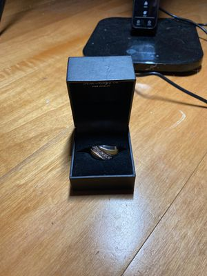 Silver gold plated ring with diamonds for Sale in Miami, FL