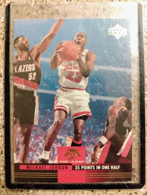 """UpperDeck Michael Jordan """"Mr. March"""" Basketball Card In Excellent Condition With Protective Sleeve for Sale in Albuquerque, NM"""