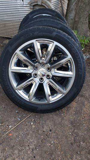 22 inch Chevy LTZ wheels oem for Sale in Dallas, TX