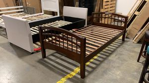 BRAND NEW Solid Wood TWIN Bed. Espresso for Sale in Hilliard, OH