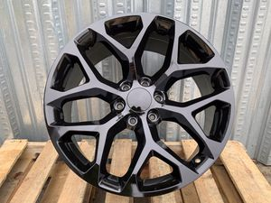 """22"""" Snowflake Rims 6x139.7 Gloss Black For GMC Chevy for Sale in Hayward, CA"""
