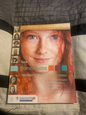New dimensions women's health 7th edition textbook for Sale in Downey, CA