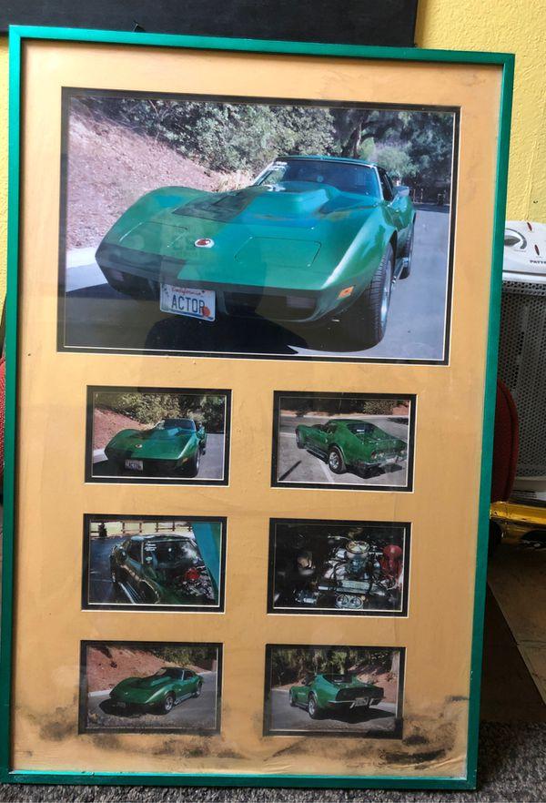 Corvette picture frame