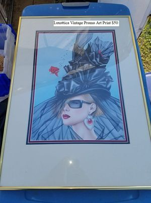 Luxottica Vintage Promo Art Print $50 for Sale in Dresden, OH