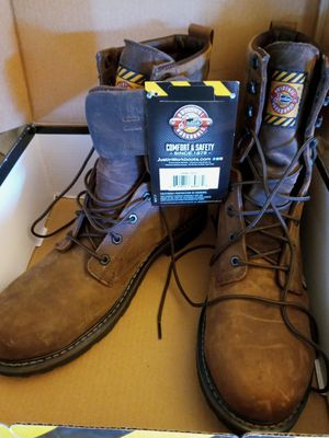 New Justin work boots steel toe for Sale in St. Petersburg, FL