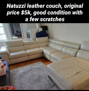 Natuzzi leather sofa from Macy's for Sale in Brooklyn, NY