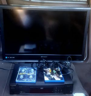 "Emerson 32"" LCD Flat Screen HDTV+ Panasonic DVD Player for Sale in Cedar Park, TX"