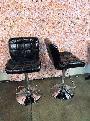Set of 2 PU Leather Bar Stools for Sale in Chino, CA