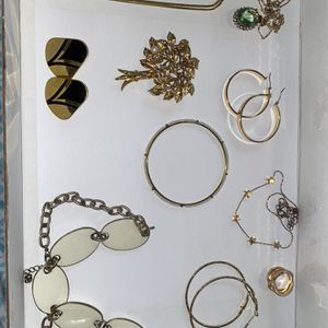 Vintage - Now - Gold Tone - 1+ lb Jewelry Bag - 10 Pieces Mixed for Sale in Jacksonville, FL
