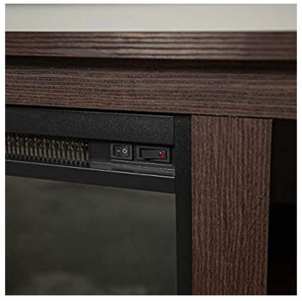 """Walker Edison Charcoal Fireplace TV Stand for TVs up to 64"""""""