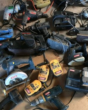 Assorted cordless and with cord power tools and batteries for Sale in Magna, UT