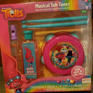 NEW Trolls Tub Tunes Set! for Sale in Hutto, TX
