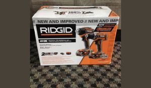 RIDGID 18-Volt Lithium-Ion Cordless Brushless Drill/Driver and Impact Driver for Sale in St. Petersburg, FL