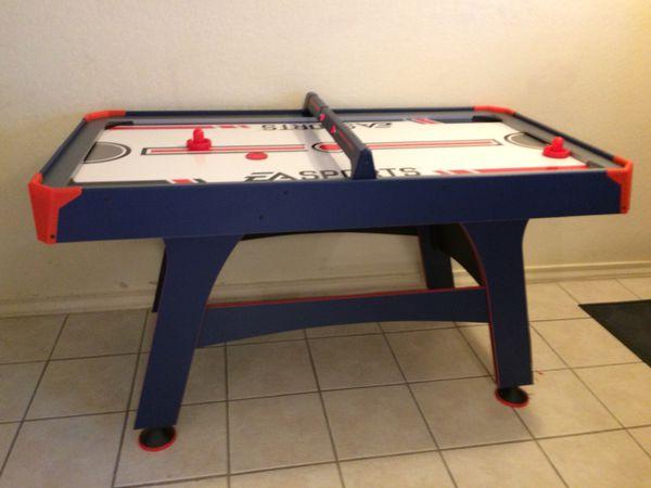 Air hockey table.