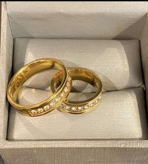 Unisex 14K Gold plated Matching Ring Set for Sale in Sacramento, CA