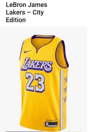 AUTHENTIC LAKERS City Edition Lore Series Jersey (2019-2020) for Sale in Las Vegas, NV