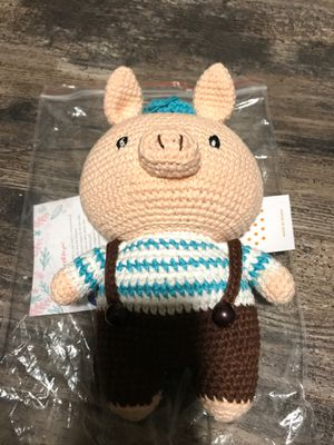 Made by Bunny handmade crotchet stuffed animal for babies for Sale in Fresno, CA