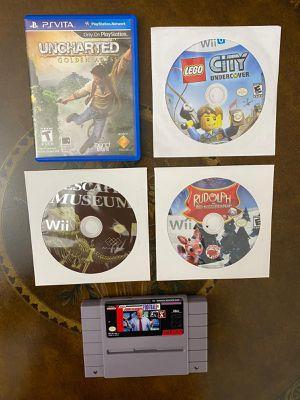 Games for Wii, Wii U, PS Vita & Super Nintendo for Sale in Miami, FL