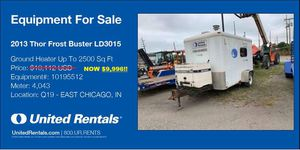 Thor 2,500 SQUARE feet ground heater for Sale in St. Charles, IL