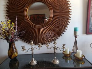 2 beautiful sterling silver plated candelabras for Sale in Chicago, IL