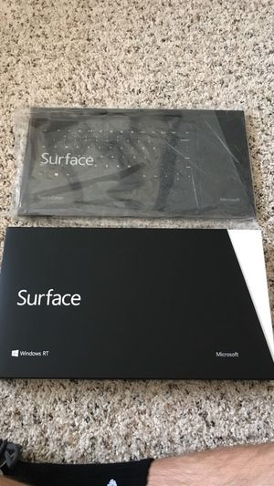 Brand New Microsoft Surface RT w/ Touch Keyboard for Sale in Raleigh, NC