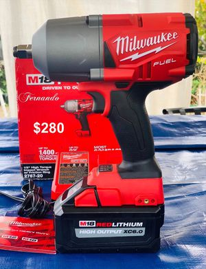 New Milwaukee M18 FUEL 18-Volt Lithium-Ion Brushless 1/2 in. Impact Wrench with Friction Ring Kit (1) 6.0 Battery & Charger. Price is FIRM.$280 for Sale in Monterey Park, CA