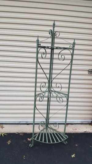 Green metal corner shelf/rack for Sale in Foxcroft Square, PA