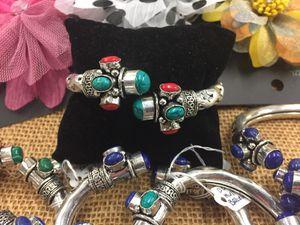 925 sterling silver natural gem stones bracelets Bali. for Sale in Prattville, AL