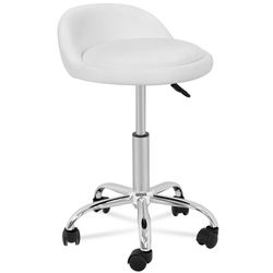 Adjustable Hydraulic Rolling Swivel Salon Stool Chair Tattoo Massage Facial Spa Stool Chair with Back Rest (PU Leather Cushion)White for Sale in Downey,  CA