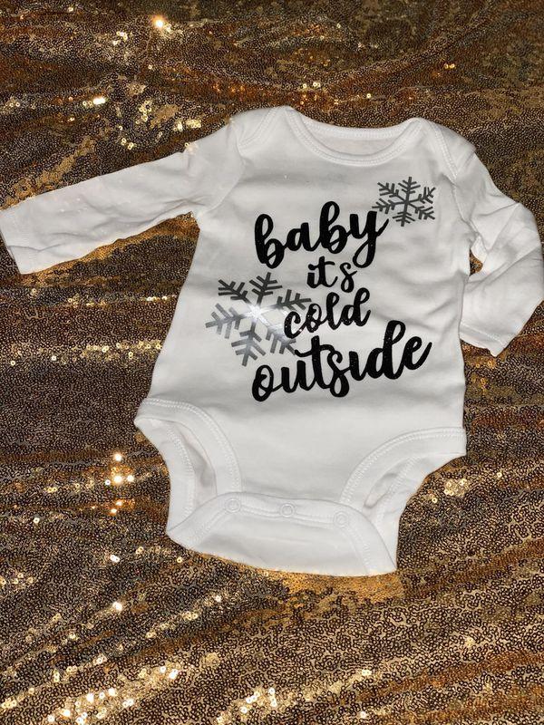 Winter baby onesies