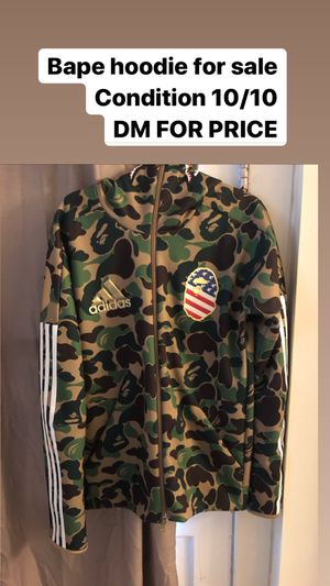 Adidas bape hoodie. WILL NEGOTIATE PRICE!! for Sale in Philadelphia, PA