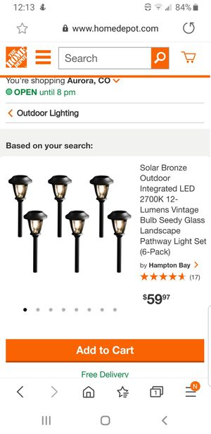 Pathway light set 6 pack for Sale in Denver, CO