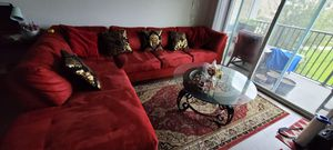 Beautiful red sectional couches for Sale in Kissimmee, FL