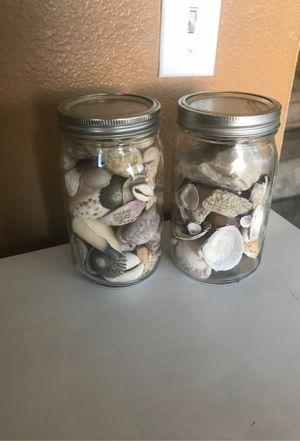 Mason Jar Seashells for Sale in Hesperia, CA