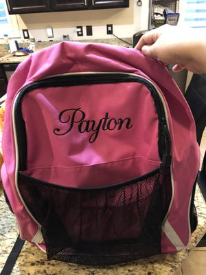 """Embroidered """"Payton"""" Equipment Bag/Backpack for Sale in Peoria, AZ"""