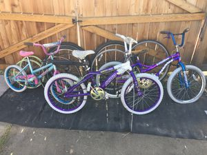 Bike bicycle bicycles parts projects yard art bike art $25 for it all for Sale in Denver, CO